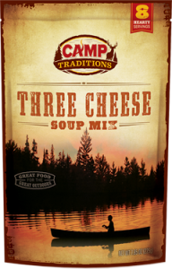 camp traditions, cheese soup mix, 3 cheese soup mix, camp traditions soup mix, camping soup mix