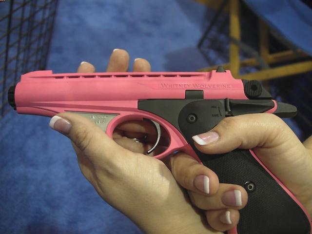 Pink Whitney Wolverine .22LR Pistol, whitney pistol, wolverine pistol, olympic arms